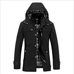 Smart Clothing NZ - L-5XL Mens Smart Casual Jacket Lapel Collar Mid Long Business Trench Slim Plu Size Jacket Outwear Thick Winter Warm Coat Clothes