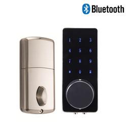 Smartphone Housing Australia - Smart deadbolt front door locks Bluetooth unlock by smartphone remotely suitable for rental houses office door