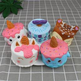 Discount unicorn cakes - Cake Squishy Kawaii Squeeze Jumbo Slow Rebound Rising Squishies PU Food Unicorn Vent Toy Ornament Prop Cute 23 03kh V