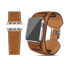 Wholesale Series Genuine Leather straps Cuff Band mm Bracelet Leather With Adapter Strap mm