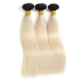 Unprocessed Virgin Blonde Hair Wholesale UK - 7A 1b 613# Indian Hair Straight Unprocessed Blonde Peruvian Virgin Human Hair 3 4 Bundles Indian Straight Hair Weave