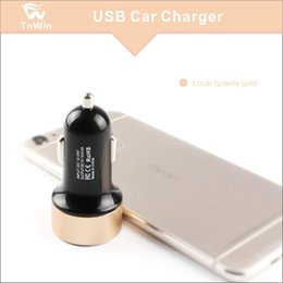 Wholesale Cell Phone Chargers Under Australia - 2.1A Universal Dual Port USB Fast Car Charger Cigarette Power Adapter for cell phone for tablet