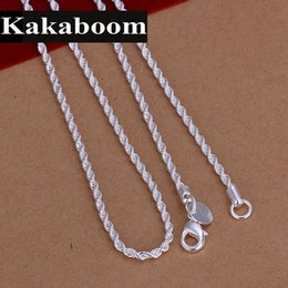 silver chain delicate wholesale NZ - Kakaboom 2mm Water-wave Naked chain Simple chain for pendant fashion jewelry Electroplate Silver Delicate Single necklaces