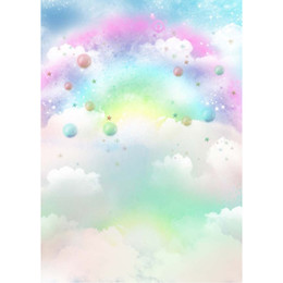 Wholesale computer cloud resale online - Dreamlike Rainbow Cloud Backdrop for Photography Baby Newborn Photoshoot Props Kids Children Birthday Party Themed Photo Booth Backgrounds