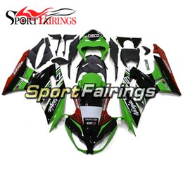 $enCountryForm.capitalKeyWord Australia - Complete Fairing kit For Kawasaki ZX6R Year 2009 2010 2011 2012 Sportbike ABS Motorcycle Fairing Kit Bodywork Green Black New Arrival Covers