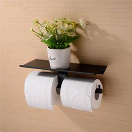 Pirinç Çift Tuvalet Kağıdı Tutucu Kutusu Rulo Tutucu Doku Kutusu Duvara Monte Tutucu Raf Banyo Aksesuarları