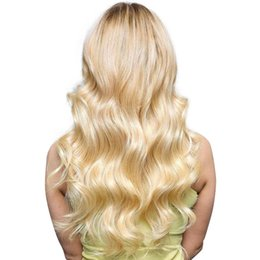 Blonde Hair Weaved Australia - 613 Brazilian Body Wave and Straight t Blonde Human Hair Weaves 613 Color Hair Extensions