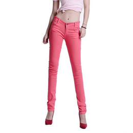 2018 Women s Korean Fashion Stretch Pencil Pants Ladies Trousers Skinny  Candy Color Pants Plus Size Women Clothing Summer d03aeab806f2