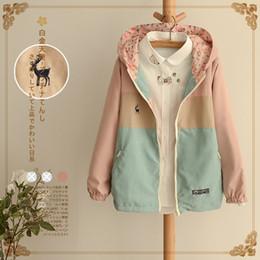 $enCountryForm.capitalKeyWord Australia - Spring Autumn Windbreaker Women Long Loose Outerwear Hooded Two Side Thin Jacket Denim Coat Female Windbreakers Jackets Clothes