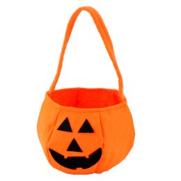 fold hand bag UK - Halloween Non-woven Candy Bag For Kids Pumpkin bag Masquerade Party Decoration Suppilies Halloween Props Children Hand Bags Gift Bags