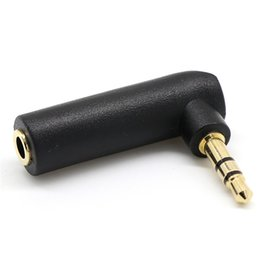 Discount 3.5mm jack adaptor Right Angled 3.5mm Stereo Jack Headphone Adaptor Socket to Plug Angle JUL11
