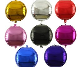 $enCountryForm.capitalKeyWord Canada - 18inch 4D Round Foil Balloons 8 Colors Helium Inflatable Globos Balloons Kids Toys Wedding Birthday Party Decoration