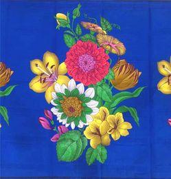 $enCountryForm.capitalKeyWord Canada - african fabric pure cotton wax print fabric big flower design high quality wax fabric for dress 6yards per piece