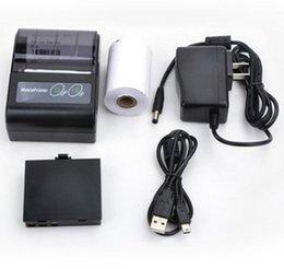 Портативный 58-миллиметровый тепловизионный чековый принтер Mobie APP 2D QR-код Чехол Принтер Поддержка Android / IOS для магазина