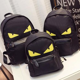Wholesale F E N D Brand Designer Women s Backpack Cute Eyes Logo Luxury Women s Mini Bag Sizes Black Women s Bags