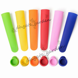 $enCountryForm.capitalKeyWord NZ - Eco-Friendly Silicone Ice Pop Mold Popsicles Mould with Lid Ice Cream Makers Push Up Ice Cream Jelly Lolly Pop For Popsicle DIY Tool