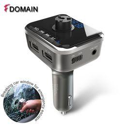 dual audio car 2019 - FDOMAIN Multifunction car Bluetooth handsfree kit auto FM Audio Transmitter Modulator Lossless Music MP3 Player Dual USB