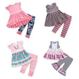 7f0dcf57c72f Baby Girls Outfits Back to School Tops Pants Headbands Scarfs Striped  Unicorn Flora Monternet Antelope Santa Claus Kids Clothing Sets 1-8T