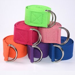 $enCountryForm.capitalKeyWord UK - PENGROAD Adjustable Yoga Belt Sport Stretch Strap D-Ring Belts Gym Waist Leg Cotton Stretch Belt Fitness Yoga Cable Equipments