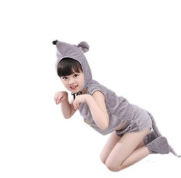 Custom made Catsuit online shopping - 2018 New style children Cosplay Mouse Animal perform clothing Boys and girls Dance Conjoined clothes