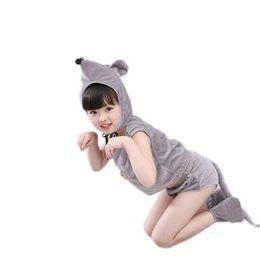 Vente en gros 2018 Nouveaux enfants de style Cosplay Mouse Animal effectuent des vêtements Vêtements garçons et filles Danse Vêtements unis