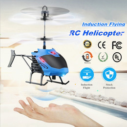 Micro Helicopter Toy Australia - Mini rc helicopter Radio Remote Control Hand Induction Flying Aircraft Micro Helicopters toys Quadcopter Drone Gift for Kids