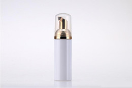 China 50ml Plastic Foamer Bottle Pump white liquid Soap Dispenser best cheapest Foam bottle with golden foamer suppliers