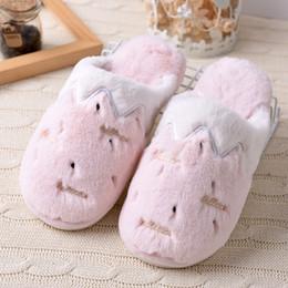 628233059b5 Winter home slippers women cute fluffy house indoor ladies slides warm  plush lovers bedroom shoes flip flops footwear female