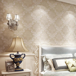 European Simple Luxury Wallpaper For Wall 3 D Paper Classic Embossed TV Room Bedroom Home Decor 53cm95m Roll