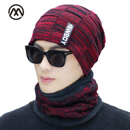 de3b5d81020 Winter men s knit cotton caps warm and comfortable plus velvet thick unisex ski  mask hat slouchy beanie male hat turban men hats