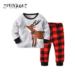 ZMHYAOKE 2018 New Winter Baby Clothes Pyjamas Sets Christmas Elk Warm  Indoor Pajamas for The Boy Home Clothes Baby Girl Pyjamas b0b13df29