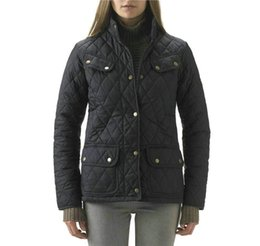 Luxury Women Parka Canada - Luxury Brand Dunnan Quilted Jacket Women High quality Street Style Argyle Ladies Parka Plus Size Clothes