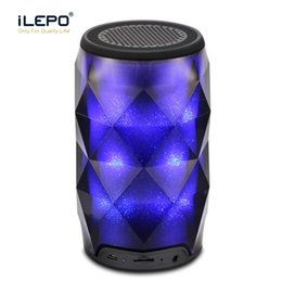 speakers change color NZ - Crystal Bluetooth Speaker With Seven Color Change Portable Wireless Can Speaker For Outdoor Subwoofer Support TF Card Mic Better Charge 3