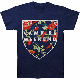 Chinese  Cool T Shirt Designs Short Sleeve Printed Crew Neck Mens Vampire Weekend Men's Shield Vintage T-shirt Small Navy Tee manufacturers