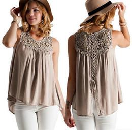 35f5c884a Nova costura de renda flor net sem mangas colete cintas Europa e América  legal casual lace camisa sem mangas das mulheres (S-5XL)