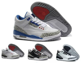 China Cheap designer men new basketball shoes 3 3s JTH NRG Pure White black cement Korea International Flight men women sports sneakers shoes cheap shoes korea women suppliers