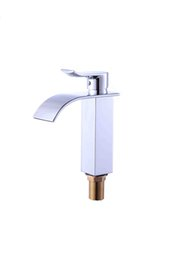 $enCountryForm.capitalKeyWord NZ - Hot selling Waterfall Bathroom Vanity Sink Faucet Deck Mount One Handle Mixer Tap with Hot Cold Water