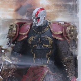 "toys kratos Canada - Anime God Of War 2 Ii Kratos In Ares Armor W Blades 7 "" Pvc Action Figure Toy Close Mouth And Open Mouth 2 Version"
