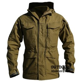 Chinese  M65 Uk Us Army Clothes Casual Tactical Windbreaker Men Winter Autumn Waterproof Flight Pilot Coat Hoodie Military Field Jacket manufacturers