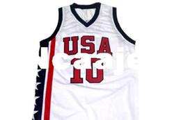 553a57cf1a8 Usa Basketball Jerseys UK - Cheap Men's #10 Bibby Team USA Basketball Jerseys  Retro Top