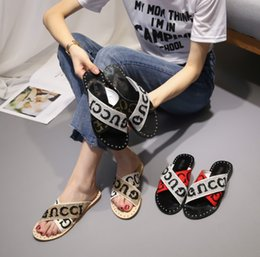 flat shoes korean styles 2018 - 2018 new style original wind fairy two cool slippers female summer wear fashionable retro Korean version of female shoes