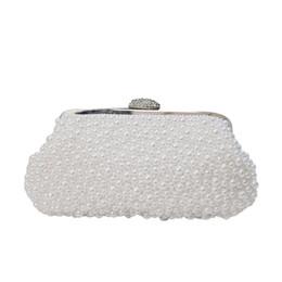 $enCountryForm.capitalKeyWord UK - Pearl diamond inlay ladies banquet handbag, 2018 new inlay diamond and pearl chain banquet bridal bag free mailing