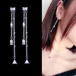 $enCountryForm.capitalKeyWord NZ - Version Popular Fashion Exquisite Long Tassel Zircon Drop Earrings With Pure Silver Needle Antiallergic Drop Earring For Women