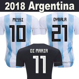 d0c0e3baa09a5 2018 camiseta de fútbol de Argentina camisetas de la Copa del Mundo MESSI  DI MARIA DYBALA AGUERO HIGUAIN ICARDI Rusia camiseta de fútbol de Tailandia  top