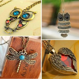 Best Gift For Xmas Australia - whole saleBest Deal New Fashion Lady Women Vintage Silver Owl Pendant Necklace Best Gift For XMAS