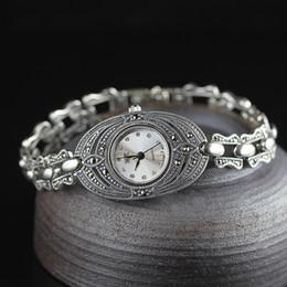 Heißer verkauf frauen silber armbanduhr s925 echt silber armbanduhr echt reinen charme uhren armreif