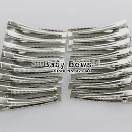 $enCountryForm.capitalKeyWord Canada - Babymatch 50pcs Lot 4 .5cm Metal Clip Crocodile Duckbill Clip with Teeth Alligator Clips Hair Accessories