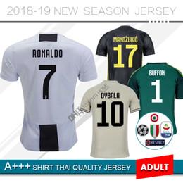 280954cc9 2019 Juventus Goalkeeper soccer jersey 18 19 RONALDO  17 MANDZUKIC Camiseta  home away Third  1 buffon  10 DYBALA HIGUAIN football shirt