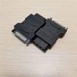 hard drive connectors ide UK - 4Pin IDE Molex Female to 15Pin SATA Male Power Adapter Converter Jack Connector For PC ide Hard Drive