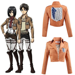 titan coating NZ - Unisex New Style One Size Japan Anime Attack on Titan Allen Shingeki No Kyojin Cosplay Yellow Costume Long Sleeve Jacket Coat